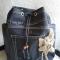 Купить рюкзак из джинсовой ткани и макраме с цветком, Рюкзаки, Сумки и аксессуары ручной работы. Мастер Ирина Макрушина (irina67) . авторский рюкзачок