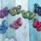 Купить Брошь-игла из кожи БАБОЧКИ, Кожаные, Броши, Украшения ручной работы. Мастер Светлана Чалая (guska) . бабочка
