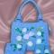 Купить Воздушные розы на голубом, Смешанная техника, Повседневные, Женские сумки, Сумки и аксессуары ручной работы. Мастер Ирина Ефимова (efir) .