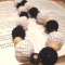 Купить Черно-белое вязаные бусы, Вязаные, Колье, бусы, Украшения ручной работы. Мастер Лилия Кропивницкая (LiLuK) . вязание крючком