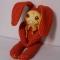 Купить Зайка нотная клубничка, Зайцы, Зверята, Куклы и игрушки ручной работы. Мастер Татьяна Карпова (Prickly) . авторские игрушки