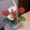 Купить корзина с антуриумами, Бисерные, Искусственные растения, Цветы и флористика ручной работы. Мастер Светлана Орлова (Totochka) . искусственные цветы
