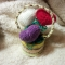 Купить Корзинка Валентинка (мини), Подарки для влюбленных, Подарки к праздникам ручной работы. Мастер Ольга Долгова (OID) . акриловая пряжа