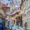Купить Вышитая картина Акварель, Город, Картины и панно ручной работы. Мастер Ольга Ильина (esyi) . эксклюзивный подарок