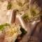 Купить Фужеры  и украшение на шампанское Белый пион, Свадебные бокалы, Свадебные аксессуары, Свадебный салон ручной работы. Мастер Мария Родионова (MeMariya) .