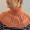 Купить манишка вязаная персиковая, Женские, Шарфы, шарфики и снуды, Аксессуары ручной работы. Мастер Майя Ромашева (laune) . авторский подарок