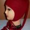 Купить Шапочка для девочки с косичками (двойная), Шапочки, шарфики, Одежда унисекс, Работы для детей ручной работы. Мастер Ольга  (Nito4ka) . детская шапка