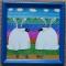 Купить Витражная картина Зайсы, Животные, Картины и панно ручной работы. Мастер Ирина  (ellu) . витраж