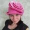Купить Шапка для бани Роза, Банные принадлежности, Для дома и интерьера ручной работы. Мастер Анна  (Clover) .