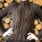Купить Восхитительный свитер с аранами, Свитера, Кофты и свитера, Одежда ручной работы. Мастер Юлия Новикова (Jilya-N) .