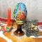 Купить Пасхальное яйцо вышитое бисером Деревянная церковь, Яйца, Сувениры и подарки ручной работы. Мастер Валентина Большакова (valenkreatif) . яйцо