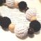 Купить Черно-белое вязаные бусы, Вязаные, Колье, бусы, Украшения ручной работы. Мастер Лилия Кропивницкая (LiLuK) . вяжу на заказ