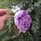 Купить Заколка для волос (обруч 2 в 1) , Заколки, Украшения ручной работы. Мастер Алена Мельник (Barhat) . цветы в волосы