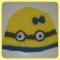 Купить Детская шапочка Миньон, Шапочки, шарфики, Одежда для девочек, Работы для детей ручной работы. Мастер Екатерина  (Rina26) . детская шапочка