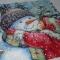 Купить Поцелуй для снеговика, Снеговики, Новый год, Подарки к праздникам ручной работы. Мастер Полина Виноградова (pol2540) . снеговик