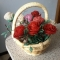 Купить розы в корзинке, Бисерные, Букеты, Цветы и флористика ручной работы. Мастер Светлана Орлова (Totochka) . букет из бисера