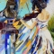 Купить Картина из мозаики - скрипачка, Символизм, Картины и панно ручной работы. Мастер Picture Mosaic (mosaic-art) . мозаика