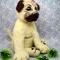 Купить Мопс из шерсти, Собаки, Зверята, Куклы и игрушки ручной работы. Мастер Екатерина Шинкаренко (episton2) . собака из шерсти