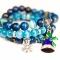 Купить Jingle bells, Полудрагоценные камни, Камни и жемчуг, Браслеты, Украшения ручной работы. Мастер Ju La (kakstrj) . синий