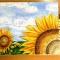 Купить Картина маслом Подсолнухи, Картины цветов, Картины и панно ручной работы. Мастер Екатерина Чуканова (artberry) . масляные краски
