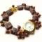 Купить Золотой песок наручные часы с авантюрином, Часы, Украшения ручной работы. Мастер Нескучные вещи  (lele13) . часы