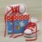 Купить Пинетки кедики красные с белым  для девочки в подарочной коробке, Пинетки, Для новорожденных, Работы для детей ручной работы. Мастер Татьяна Алерси (alersy) .