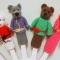 Купить Пальчиковый вязаный театр Колобок, Кукольный театр, Куклы и игрушки ручной работы. Мастер Наталья Передерий (loko-vagon) . пальчиковый театр
