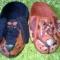 Купить войлочные тапочки  - портрет ), Обувь ручной работы. Мастер Юлия Быханова (julisfox) .