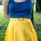 Купить Льняная юбка-солнце с вышивкой, Шитые, Юбки, Одежда ручной работы. Мастер Татьяна Новикова (beauty-simpl) . натуральный лён