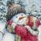 Купить Поцелуй для снеговика, Снеговики, Новый год, Подарки к праздникам ручной работы. Мастер Полина Виноградова (pol2540) . новый год