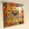 Купить Часы настенные Мозаика с квадратным циферблатом, Настенные, Часы для дома, Для дома и интерьера ручной работы. Мастер Светлана Тавлесан (Tavlesan) . часы настенные