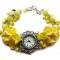 Купить Жёлтые нарциссы наручные часы с бусинами лэмпворк, Часы, Украшения ручной работы. Мастер Нескучные вещи  (lele13) . нарциссы
