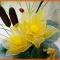 Купить Цветочная композиция из капрона, Смешанная техника, Интерьерные композиции, Цветы и флористика ручной работы. Мастер Елена Белецкая (mianamiana) .