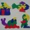 Купить Пазлы из фетра, Развивающие игрушки, Куклы и игрушки ручной работы. Мастер Татьяна Солдатова (Tatyana0819) .