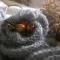 Купить Снуд с брошью Осеннее небо, Женские, Шарфы, шарфики и снуды, Аксессуары ручной работы. Мастер Дина Нигматулина (Dnigma) .