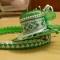 Купить Шляпка украшение для волос из креп-сатина Green, Текстильные, Заколки, Украшения ручной работы. Мастер Милена Морозова (Milena) . авторская шляпка