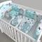 Купить бортики в кроватку, Для новорожденных, Работы для детей ручной работы. Мастер Екатерина Суховерхова (aka-light) . хлопок чешский