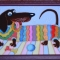 Купить Витражная картина Такса, Животные, Картины и панно ручной работы. Мастер Ирина  (ellu) . собака
