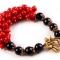 Купить Браслет Красное и черное, Поделочные камни, Камни и жемчуг, Браслеты, Украшения ручной работы. Мастер   (ukrasheniya) .