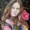 Купить Картина_Девушка_с_розой, Люди, Картины и панно ручной работы. Мастер Кристина Spice-Art (Spice-Art) .
