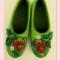 Купить Земляничное счастье, Домашние тапочки, Обувь ручной работы. Мастер Нелли Ляшкевич (FeltiNelly) . земляника