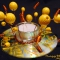 Купить Подсвечник Золотые шары, Подсвечники, Для дома и интерьера ручной работы. Мастер Надежда  (dnkcreative) . подсвечник