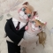 Купить Неразлучники котики жених и невеста, Подарки для влюбленных, Подарки к праздникам ручной работы. Мастер Наталья Гужеля (GuzhelyaN) . коты неразлучники