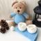 Купить Плюшевый мишка в пижаме ручной работы, Мишки, Зверята, Куклы и игрушки ручной работы. Мастер Юлия Жарчук (plushigrush) . игрушка для детей