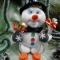 Купить Снеговик, Мультяшные, Сказочные персонажи, Куклы и игрушки ручной работы. Мастер Ольга Красницкая (krasoliadoll) . мишура