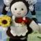 Купить Вязаная куколка Первоклашка, Вязаные, Человечки, Куклы и игрушки ручной работы. Мастер Светлана Крючкова (svetlanasv) . пластиковые пуговицы