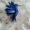 Купить Брошь - Синяя птица, Текстильные, Броши, Украшения ручной работы. Мастер Татьяна Никитина (Tatiyana) . бисер preciosa