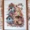 Купить Вышитая картина Новоселье, Животные, Картины и панно ручной работы. Мастер Екатерина Николсон (e-nicholson) .