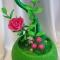 Купить Топиарии из зеленой органзы, Топиарии, Цветы и флористика ручной работы. Мастер Мария Коровина (MariKa) . купить топиарий