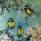 Купить Картина_Синички_40х50ссм_масло_холст, Животные, Картины и панно ручной работы. Мастер Кристина Spice-Art (Spice-Art) .